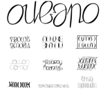 Ambigrama, por Lécroart, com nome dos primeiros oubapianos. Você pode girar a página a 180º e consegue ler os mesmos nomes!