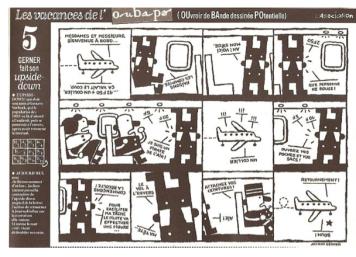 Upside-Down de Jochen Gerner. A história pode ser lida a 180º também!